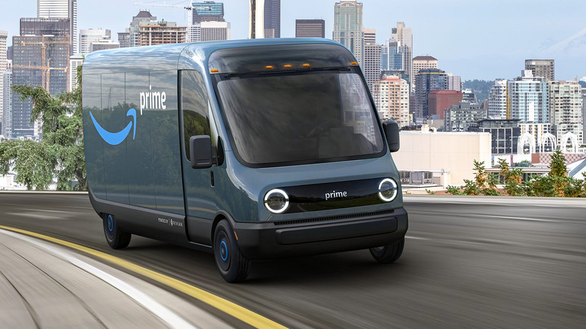 Amazon's Electric Delivery Van (source: Detroit News)