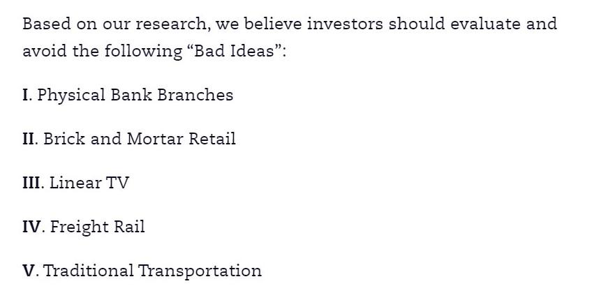 Ark invest bad ideas