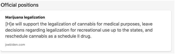biden official marijuana position