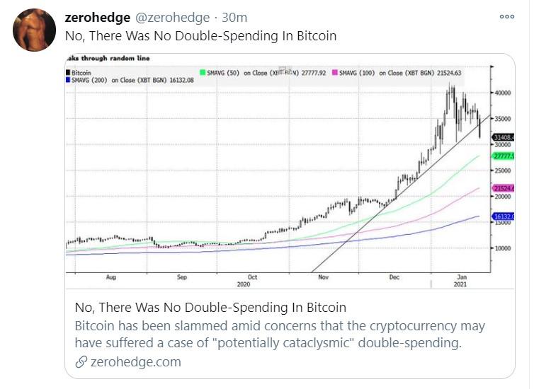 bitcoin double spending_tweet