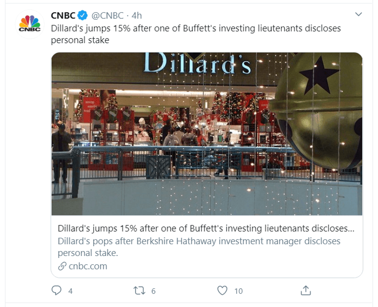 dillards tweet