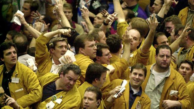 forex traders on CME trading floor