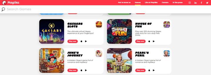 playtika website