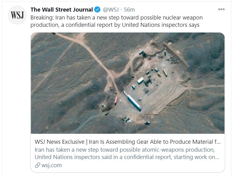 iran nuclear tweet