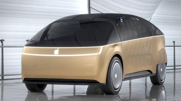 old apple car mock up