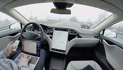 Autonomous vehicle Tesla