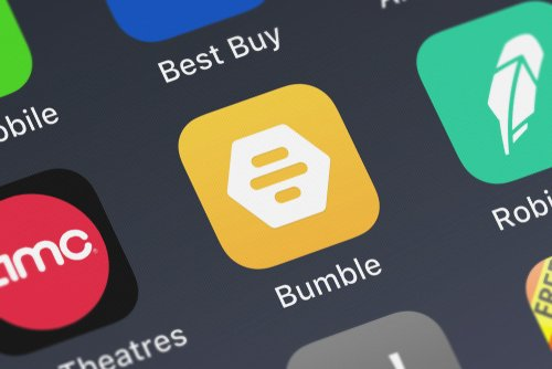 bumble the app on mobile screen