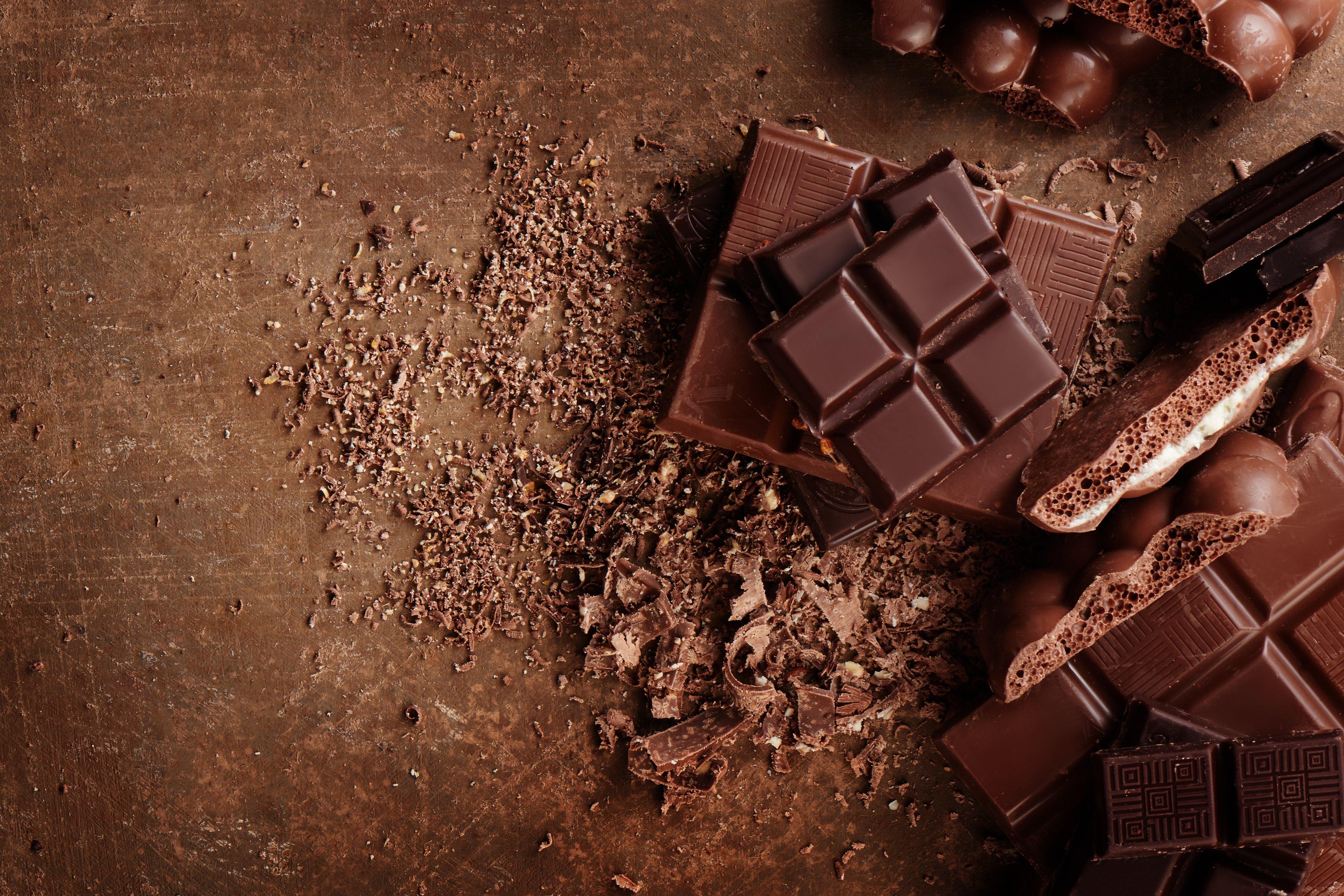 chocolate and chocolate over chocolate