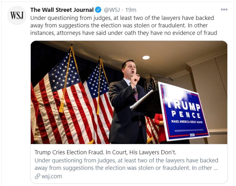 trump cries election fraud tweet