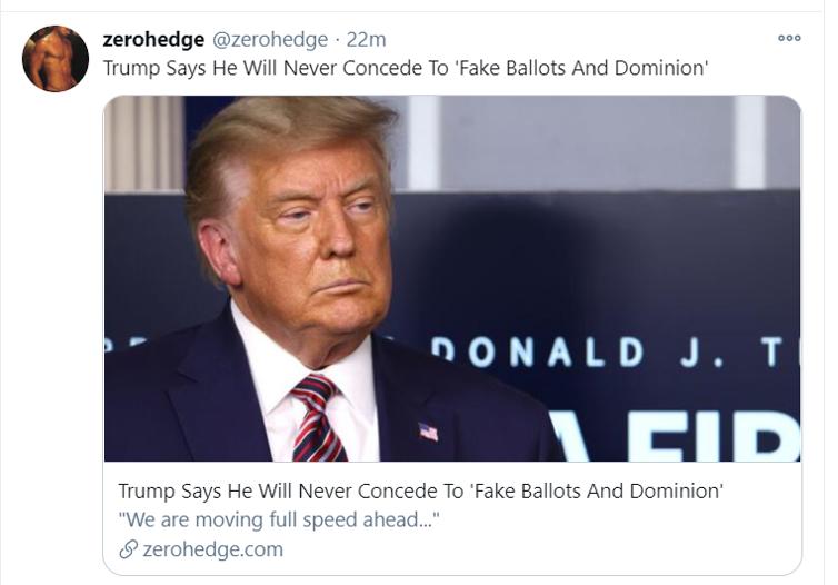 trump not concede tweet