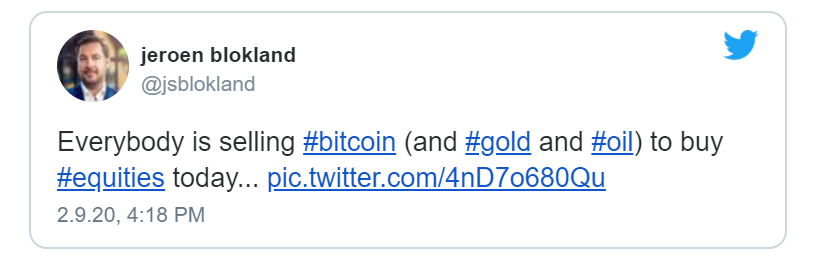 tweet bitcoin gold stocks