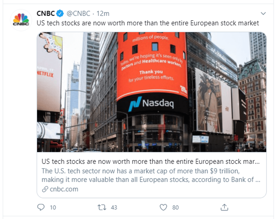 us tech stocks vs eu stocks