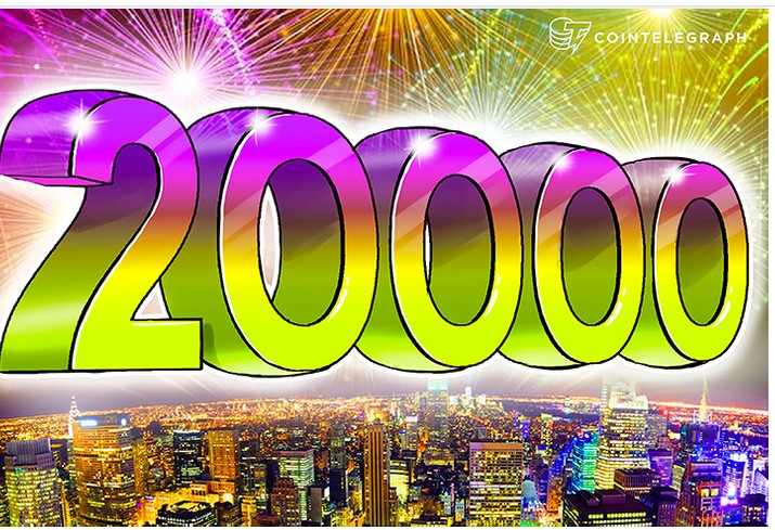 Bitcoin hits 20 000 for the first time