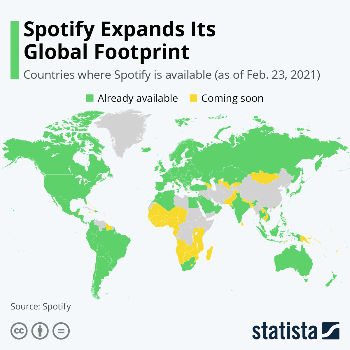 Spotify expands its reach to new lands