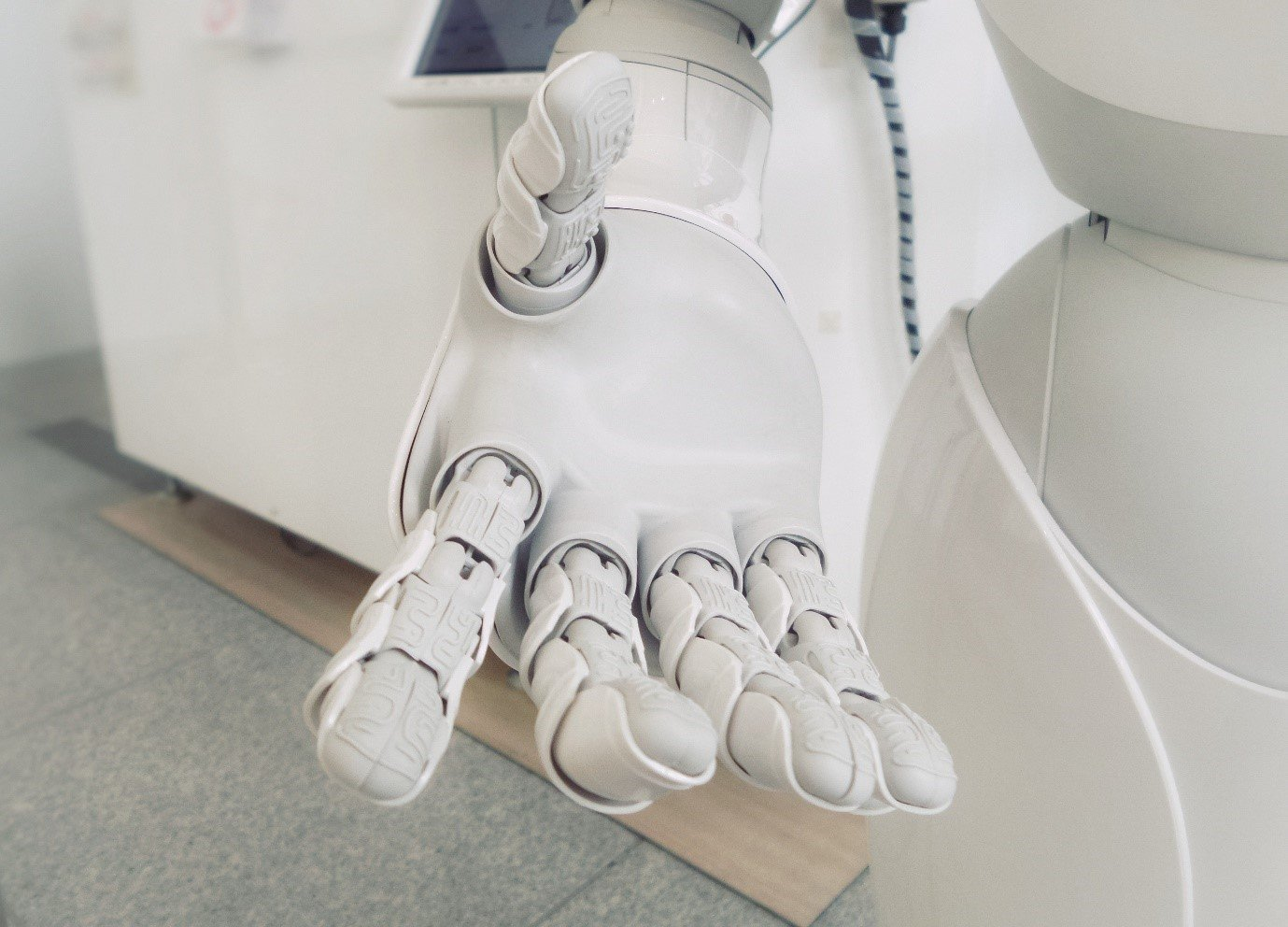 hand robot artificial intelligence white fingers