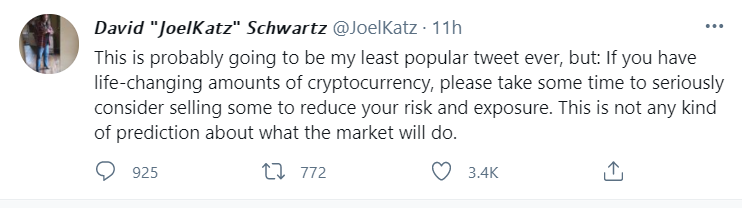 Is it time to sell off some crypto?