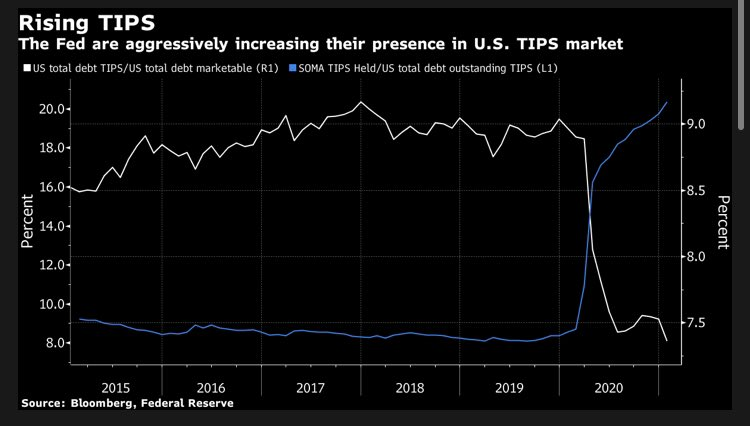 Add TIPS to the list of markets distorted by the Fed