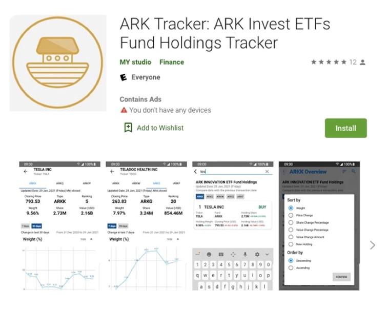 ARK Tracker App