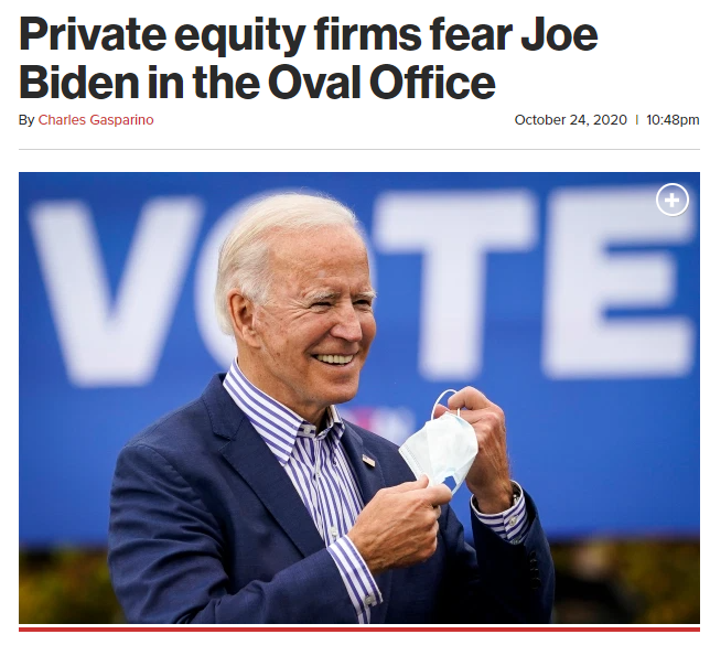 Private equity firms fear Joe Biden in the Oval Office - The New York Post