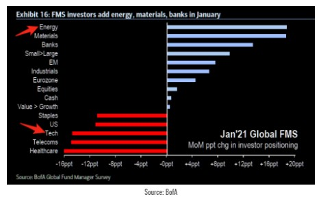 BofA Fund Manager Survey January 2021
