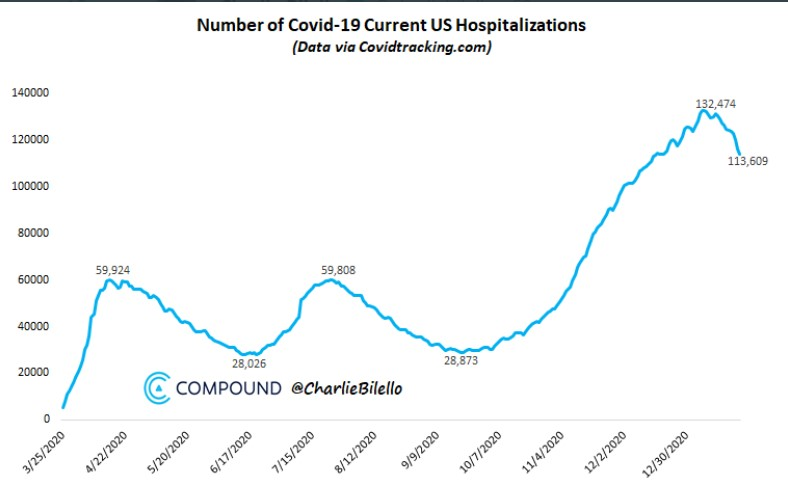 Covid hospitalizations in the US