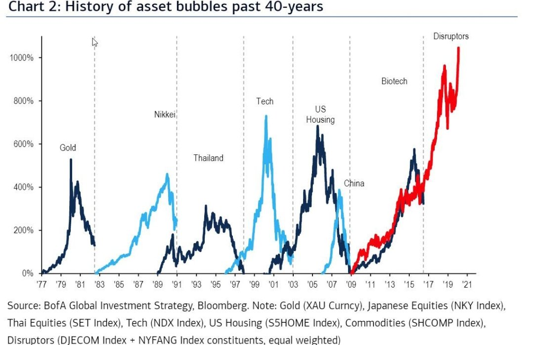 The ultimate Disruptors (Cathie Wood) bubble