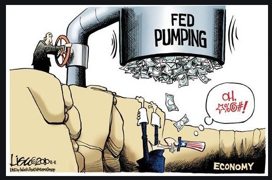 Fed keeps pumping