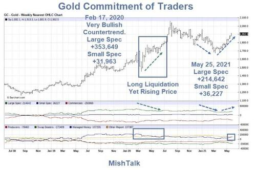 COT Report: Gold positioning