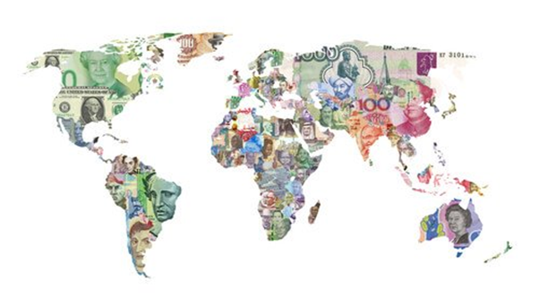 global forex currencies map