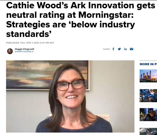 Morningstar has a neural rating on Ark Invest Innovation ETF