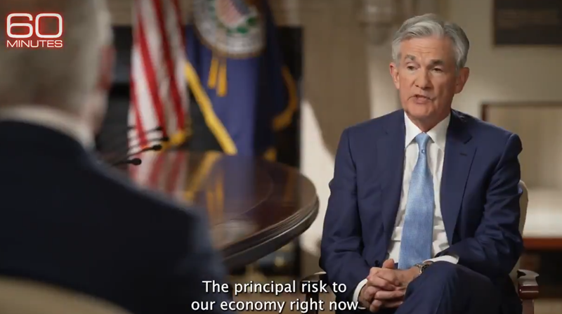 Powell on 60 minutes: Fed doesn't want a return to