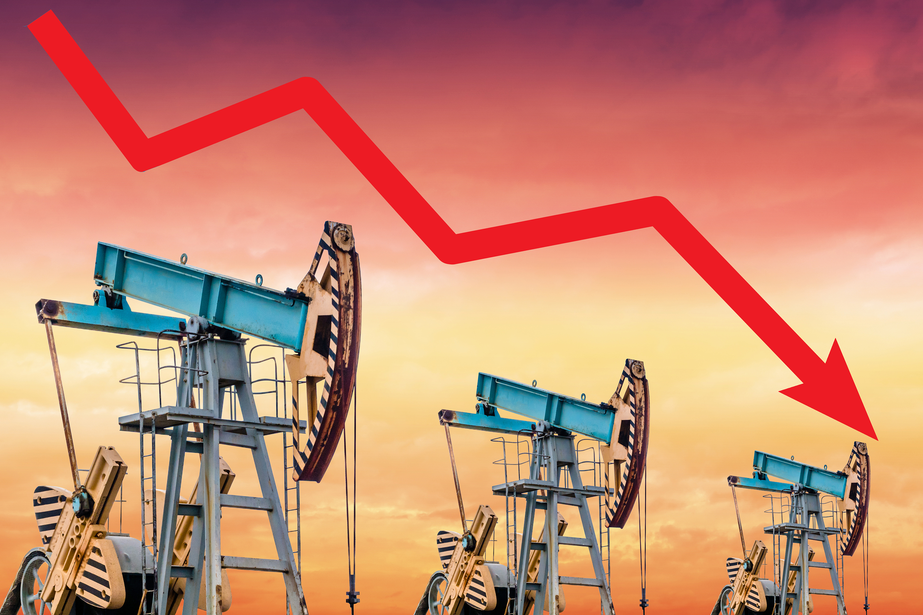 Oil price turns negative