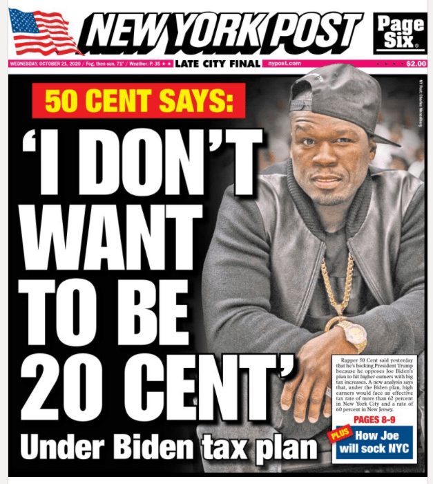 The tax fear by 50 cents