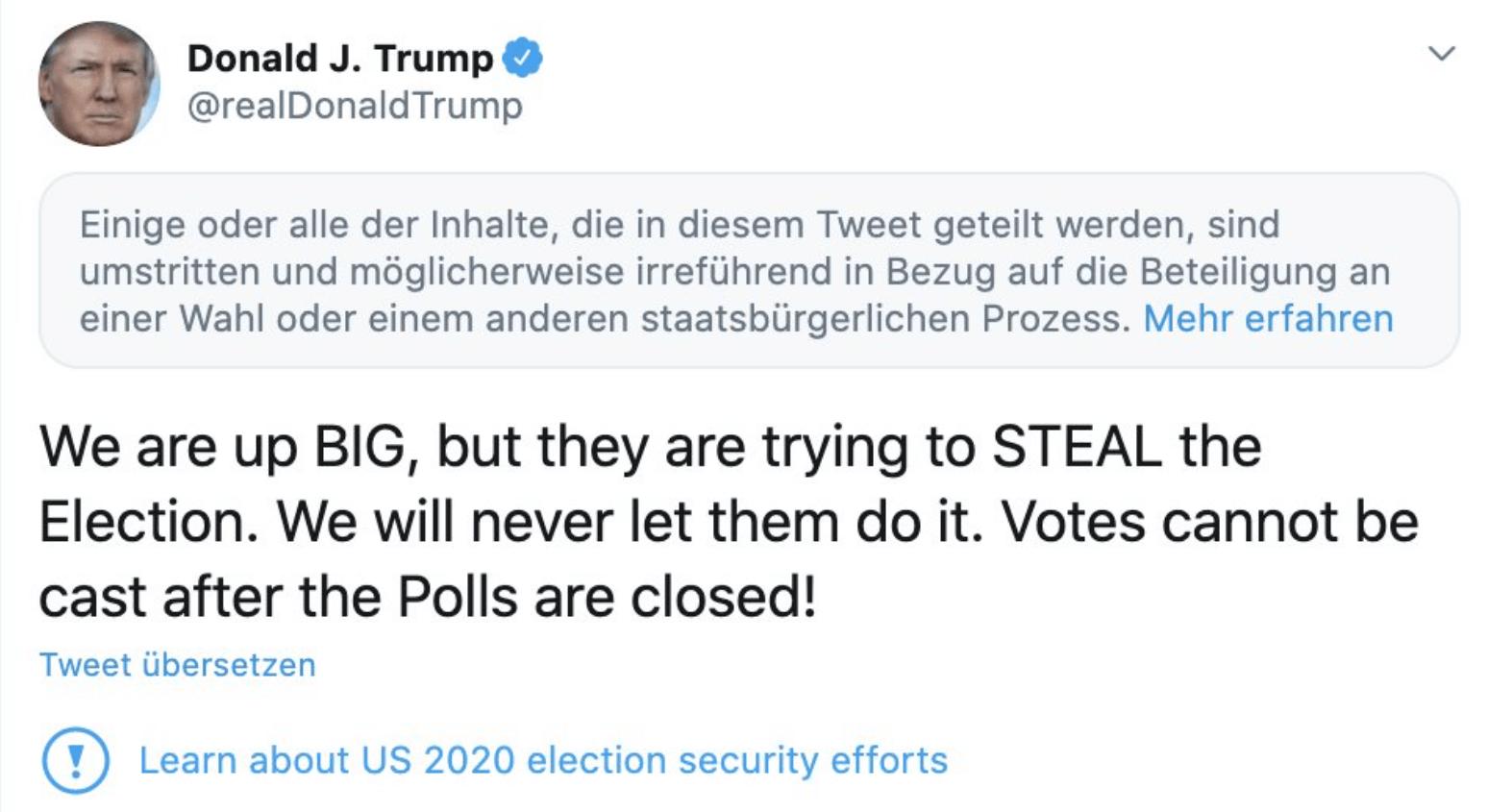 Twitter ban Trump